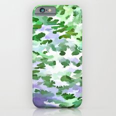 Foliage Abstract In Green and Mauve iPhone 6s Slim Case