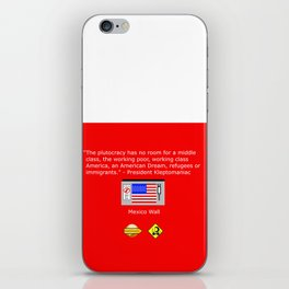 The Plutocracy in America iPhone Skin