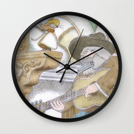 A Country Mouse  Wall Clock