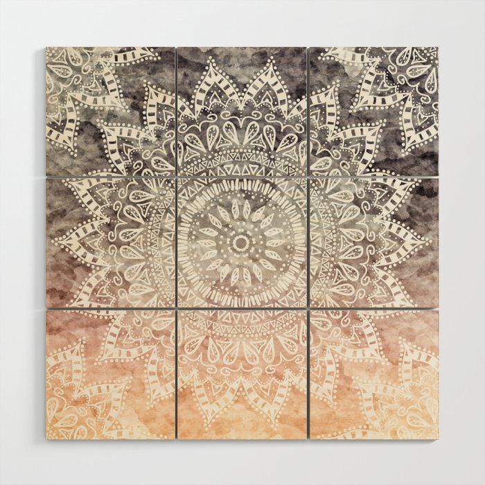 Bohemian Hygge Mandala Wood Wall Art By Nika