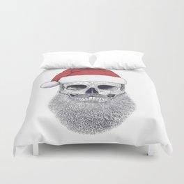Santa skull Duvet Cover