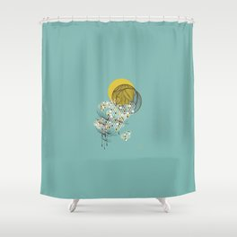 Seasons Time Space Shower Curtain