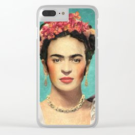 Frida Kahlo Clear iPhone Case