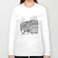 vermont Long Sleeve T-shirts featuring Zentangle Sugarbush, Vermont by Vermont Greetings