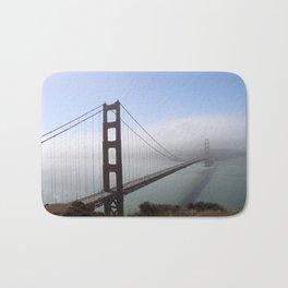 Golden Gate Bridge On A Foggy Morning Bath Mat