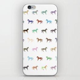 Colorful Horses Lantern Pattern  iPhone Skin