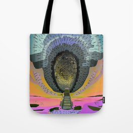 Tree Cactus in Bloom at Dawn Tote Bag