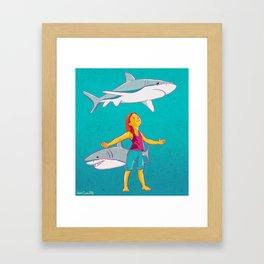 Flying Shark Framed Art Print
