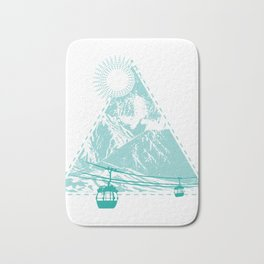 Mountains Sun Gondola Ski Nature Triangle Free Gift Bath Mat