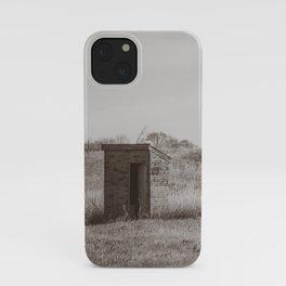 Outhouses, Huff, North Dakota iPhone Case