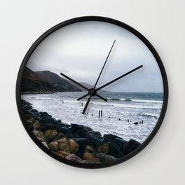Rocky beach in the coast of Ireland Wall Clock