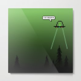Aliens Believe In Humans Metal Print