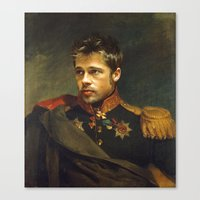 brad pitt Canvas Prints featuring Brad Pitt - replaceface by replaceface