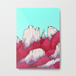 Red forest hills Metal Print