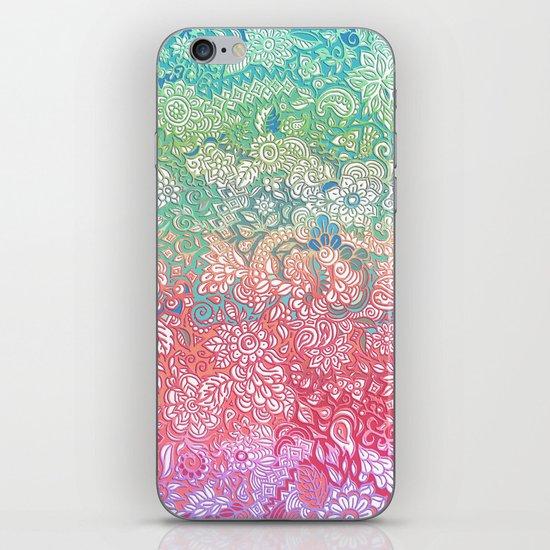Soft Pastel Rainbow Doodle iPhone & iPod Skin