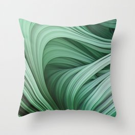 Stranded Strain II. Emerald Green Throw Pillow