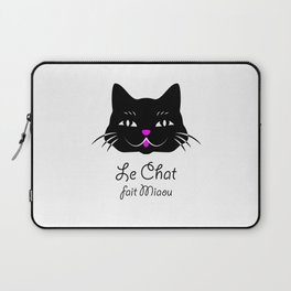 The Cat Says Meow! Laptop Sleeve