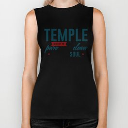 The Body Is Your Soul's Temple Biker Tank