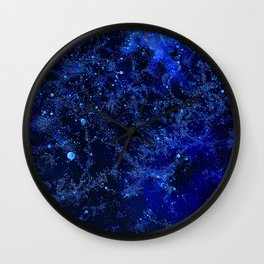 Celestial Blues Wall Clock