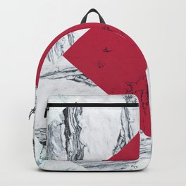 Red + Marble Backpack
