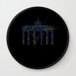 Berlin Districts Wall Clock