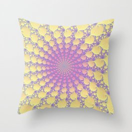 Pink Lemonade - Fractal Art  Throw Pillow
