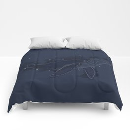 Spacial Whale Comforters