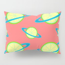 Planet Lime Pattern | Solar System | Space | Citrus Planets | Tropical Fruit | pulps of wood Pillow Sham