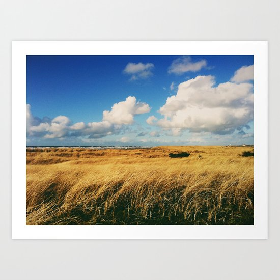 Clouds Over Windy Field (Taken with iPhone) Art Print