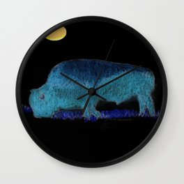 """ Buffalo Moon "" Wall Clock"