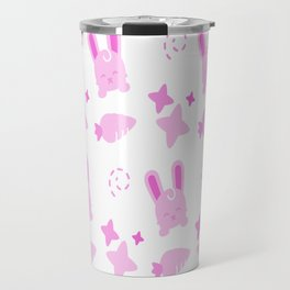 Gangster Bunny, Playful Pattern Travel Mug