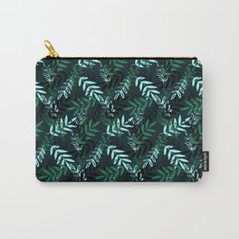 Green Messy Leaves #society6 #decor #buyart Carry-All Pouch