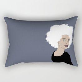 Curly Beauty Rectangular Pillow