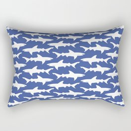 School of Sharks Blue Ocean Rectangular Pillow