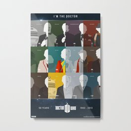 Doctor Who 50th Anniversary Poster Set Metal Print