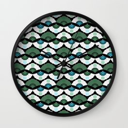 Green Vintage Wall Clock