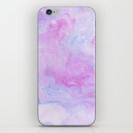 Violet marble iPhone Skin