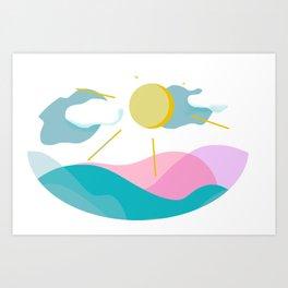 Landscape graphic design Art Print