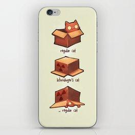 Schrödinger's cat iPhone Skin