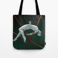 cyberpunk Tote Bags featuring Dividendo Digital by Obvious Warrior
