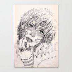 Sugar Skull Girl 2 Canvas Print