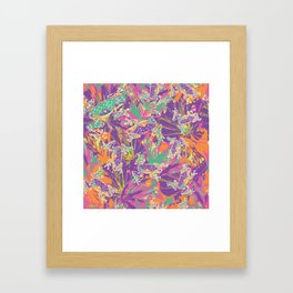 Tropical summer rainforest party Framed Art Print