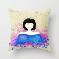 asian Throw Pillows featuring ASIAN by RArkhitek