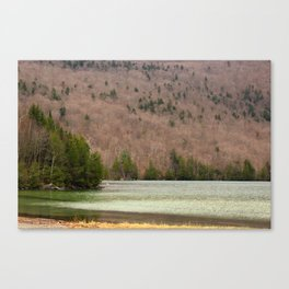 Spring At South Beach on Lake Willoughby in Westmore, VT Canvas Print