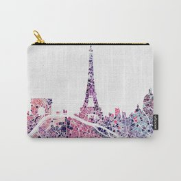 Paris Skyline + Map #1 Carry-All Pouch