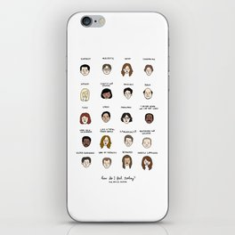 The Office Mood Chart iPhone Skin