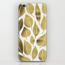 Cascading Leaves – Gold Palette iPhone Skin