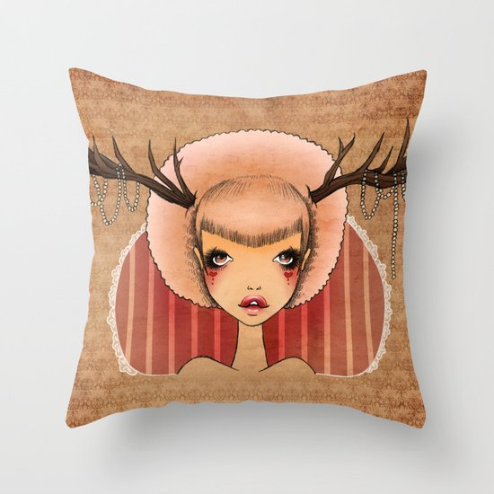 Wicked Pearls Throw Pillow