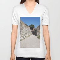 caleb troy V-neck T-shirts featuring Troy by Malcolm Snook