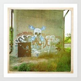 Hockhocking Adena Bikeway Graffiti Art Print